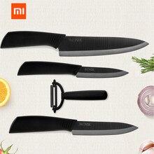 الأصلي شاومي Mijia البيئية سلسلة ماركة huoho المطبخ سكين Mijia نانو السيراميك السكاكين مجموعة طهي 4 6 8 بوصة فرن أرق