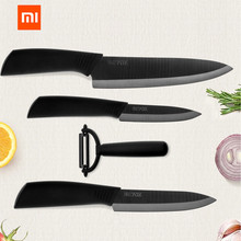 Original Xiaomi Mijia Ecological Chain Brand Huohou Kitchen Knife Mijia Nano Ceramic Knives Cook Set 4 6 8 Inch Furnace Thinner