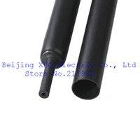 Quadruple Double Wall Heat Shrinkable Tube 20mm Black Inner Tube 4 Times Shrink Waterproof Adhesive