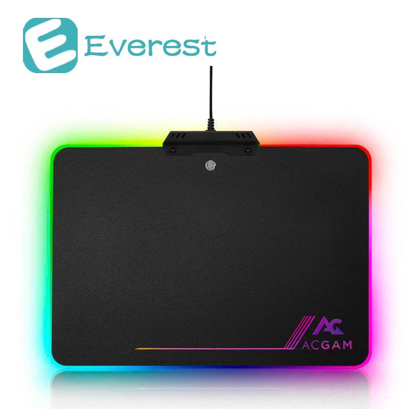 ACGAM Gaming Mouse Pad RGB Lighting USB 2.0 Hard - Black