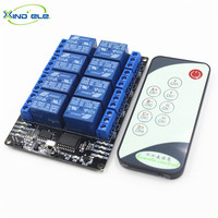 Hot Wireless Light Switch IR Remote Control 220V Module 12V DC 10A 8 Way Relay With