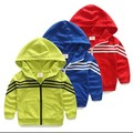 2015 Spring New Style Boys Fashion Casual Hooded Sweatshirt Baby Kids Splicing Hoodies Children Sports Coat Jacket Clothes G62