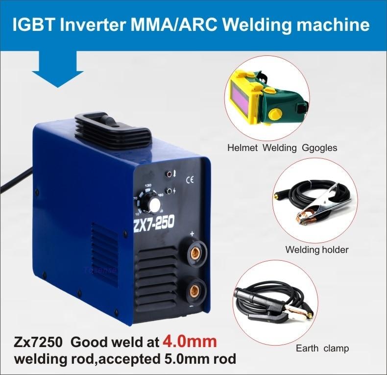 Крошечная 1 фаза 220 вольт 250 ампер zx7 250a постоянного тока прочная палка сварочные аппараты Сделано в Китае