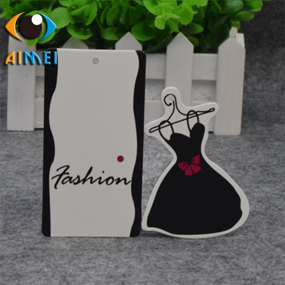 Spot direct womens clothing black small dress tag custom-made clothes trademark childrens clothing label printing can be custo