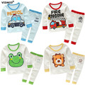 1-7Y Children clothing sets baby girl underwear clothes boys t-shirt +pants frog fire truch patrol kids clothes Cotton