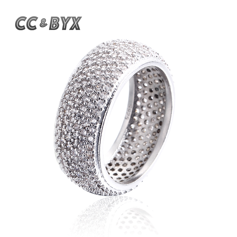 Luxury high quality laboratory-created white gold color rings for women party weding engagement fashion jewelry gifts CCR196 ...