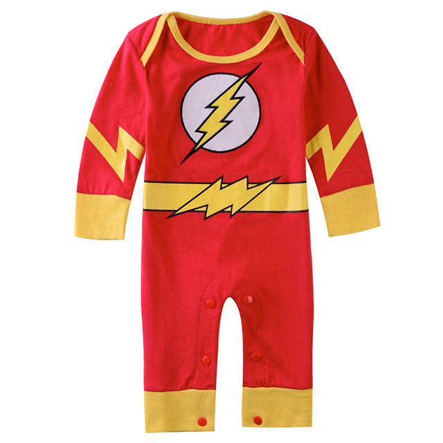 Bébé Garçon Flash Barboteuse Infantile Super-Héros Costume Nouveau-Né Garçons Cosplay Salopette