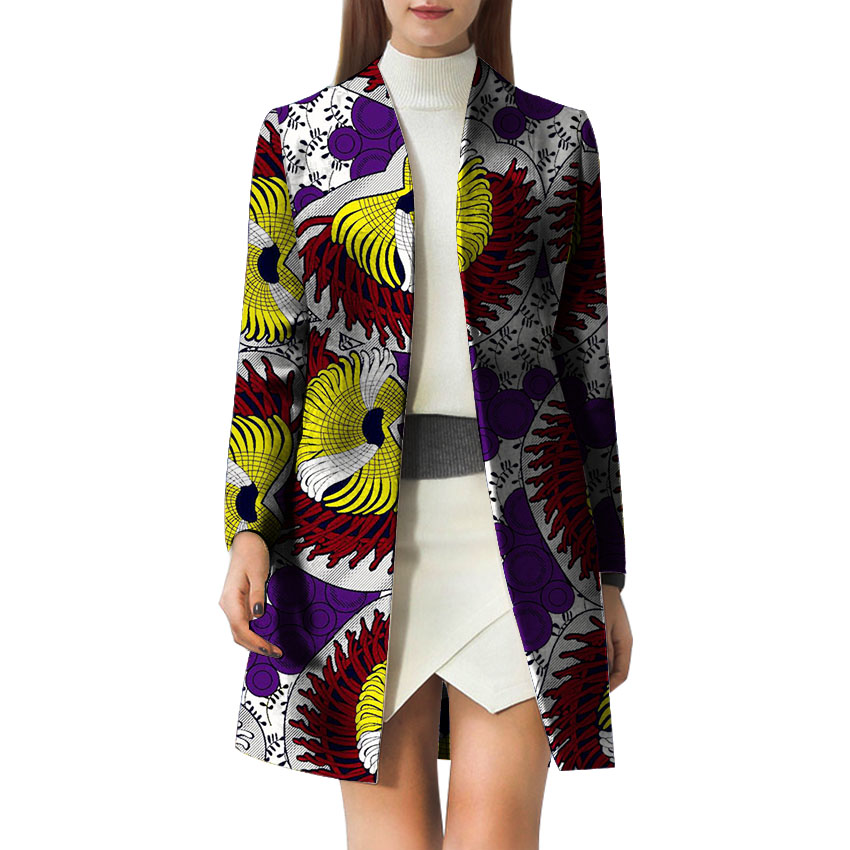 Trench Femelle 2 Manteaux Costume Africains Dame 1 6 3 Dashiki Mode Vêtements 4 Africaines 5 Batik Personnaliser Trenchs Femmes D'impression qZwvW4nI
