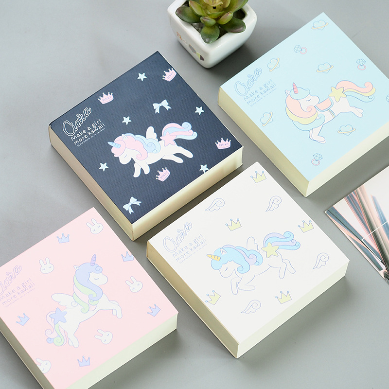 Cute Kawaii Cartoon Unicorn Memo Pad Post It Note Sticky Paper Korean Stationery Planner Stickers Notepads School Office 25 50 page iphone 4 sticky notes cute kawaii paper memo pad stickers planner post it school office stationery