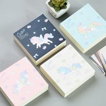 Cute Kawaii Cartoon Unicorn Memo Pad Sticky Paper Korean Stationery Planner Stickers Notepads School Office Notebook