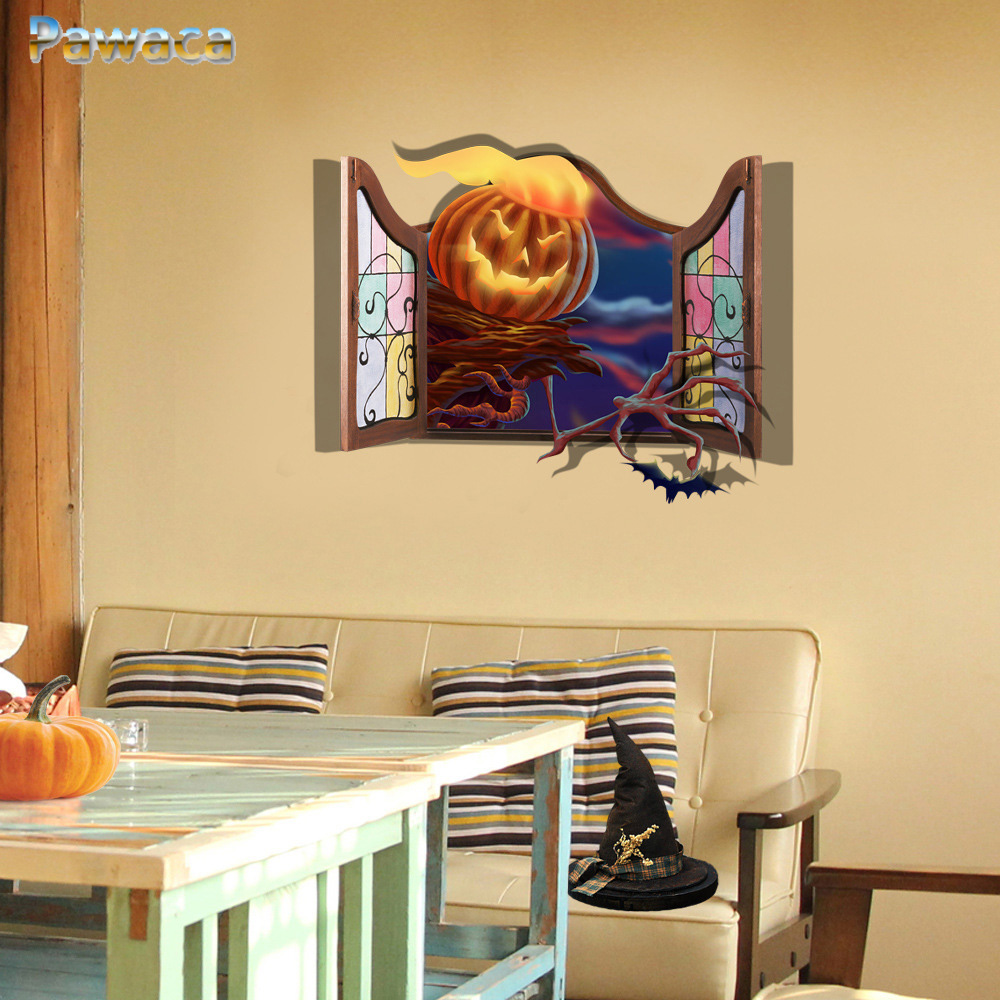 Halloween Decoration 3D Wall Sticker Window Home Decor Poster For ...