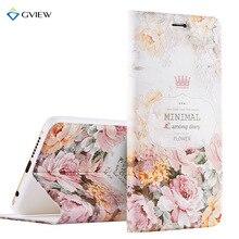 Gview высокое качество 3D рельеф печати Кожа PU Смарт флип чехол для Huawei Honor 8 5.2 дюймов подставкой телефон сумка Coque Fundas