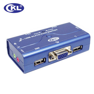 2 Port USB 2.0 VGA przełącznik KVM z Cabbles wsparcie Audio automatyczne skanowanie, monitor do komputera klawiatura mysz DVR NVR serwera przełącznik CKL-72UA