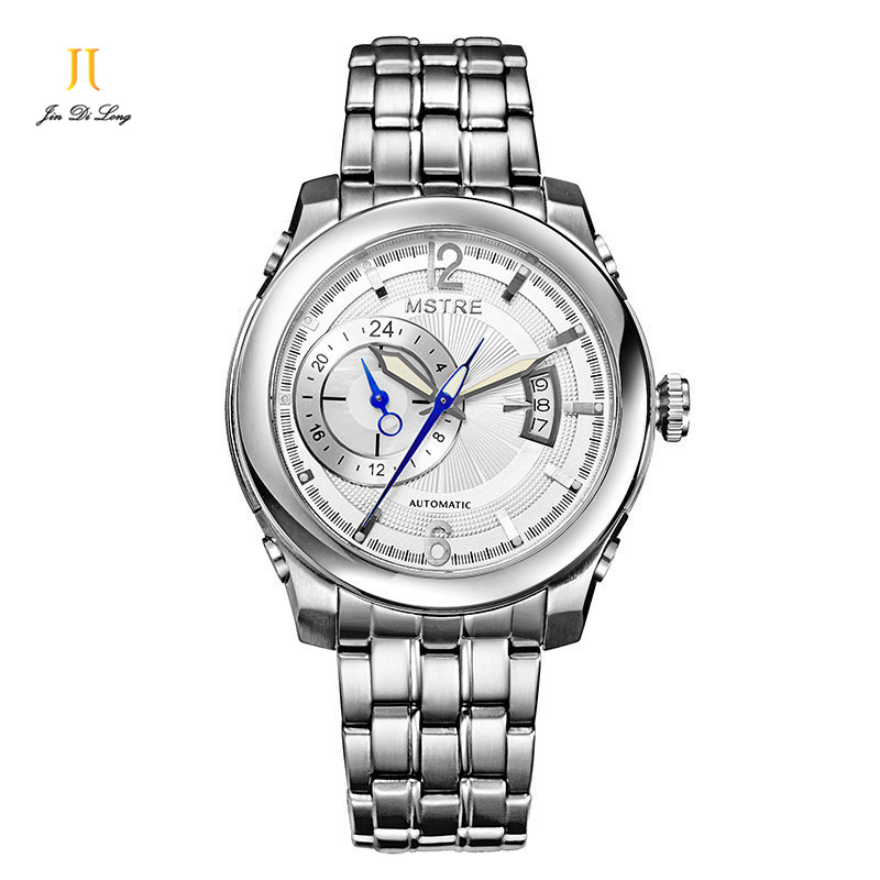 Brand Luxury Fashion Elegant Casual&Business Watch Men's Automatic Flywheel Wrist Watches Sapphire Leather or Steel Strap
