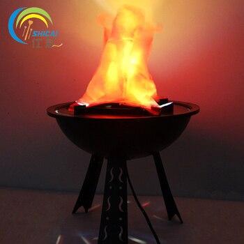 Настольная светящаяся панель с имитацией пламени, реквизит для дома, декор для Хэллоуина, магазин, макет магазина, электронная лампа для жар