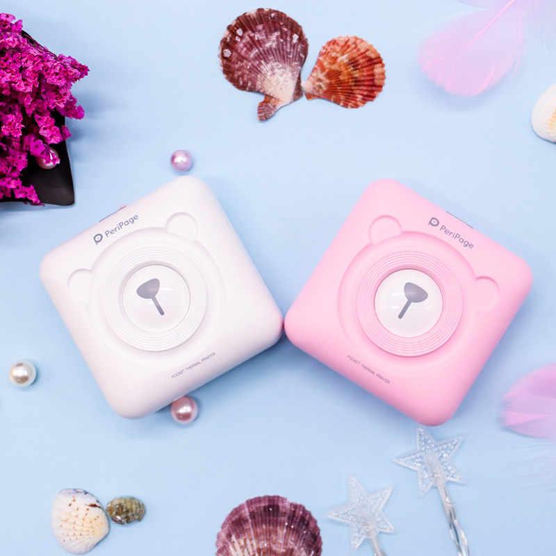 Impresora térmica Bluetooth portátil de 3 colores, Mini impresora térmica de fotos POS inalámbrica para teléfono móvil Android IOS
