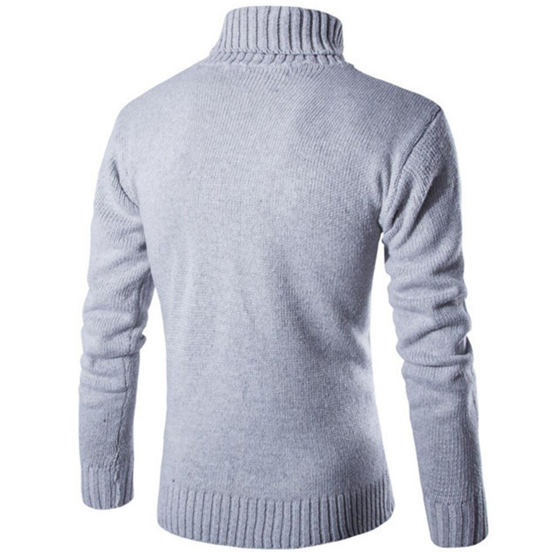 Covrlge 2017 Male Sweater Pullover Slim Warm Solid High Lapel Jacquard Hedging British Men's Clothing Mens Turtleneck MZM030 1
