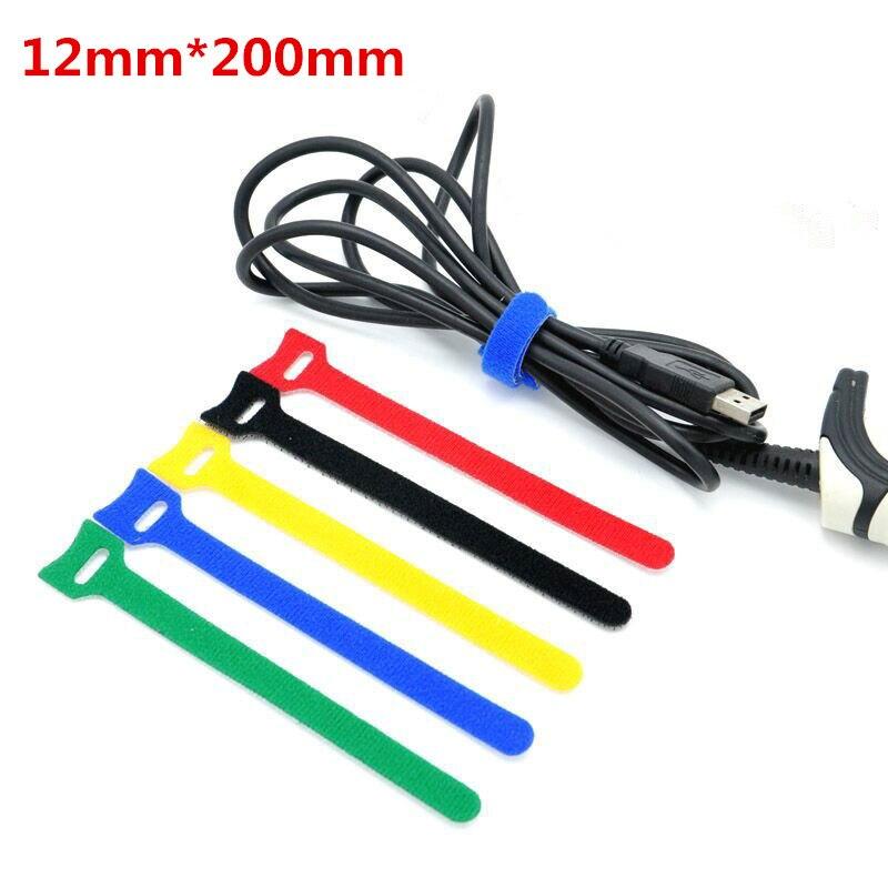 10Pcs 12x200mm Magic Tape Wiring Harness tapes font b Cable b font Tie Cord font b