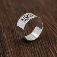 Monogrammed Name Rings Personalized 925 Silver Ring For Women Men 3 Initals Name Rings Engagement Wholesale