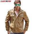 LONMMY Militar homem jaqueta de Algodão jaquetas Bomber jacket chaqueta hombre M-4XL dos homens Mens jaquetas e casacos Do Exército estilo 2016 Novo