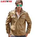 LONMMY Military jacket man Cotton jaquetas Bomber jacket men Mens jackets and coats Army style M-4XL chaqueta hombre 2016 New