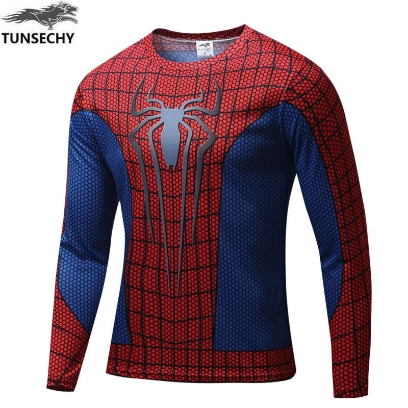 Marvel Comics Super HeroesCaptain America Spiderman Superman Batman Iron ManLong Sleeve   T     Shirt   Clothing Costume Tee   Shirt