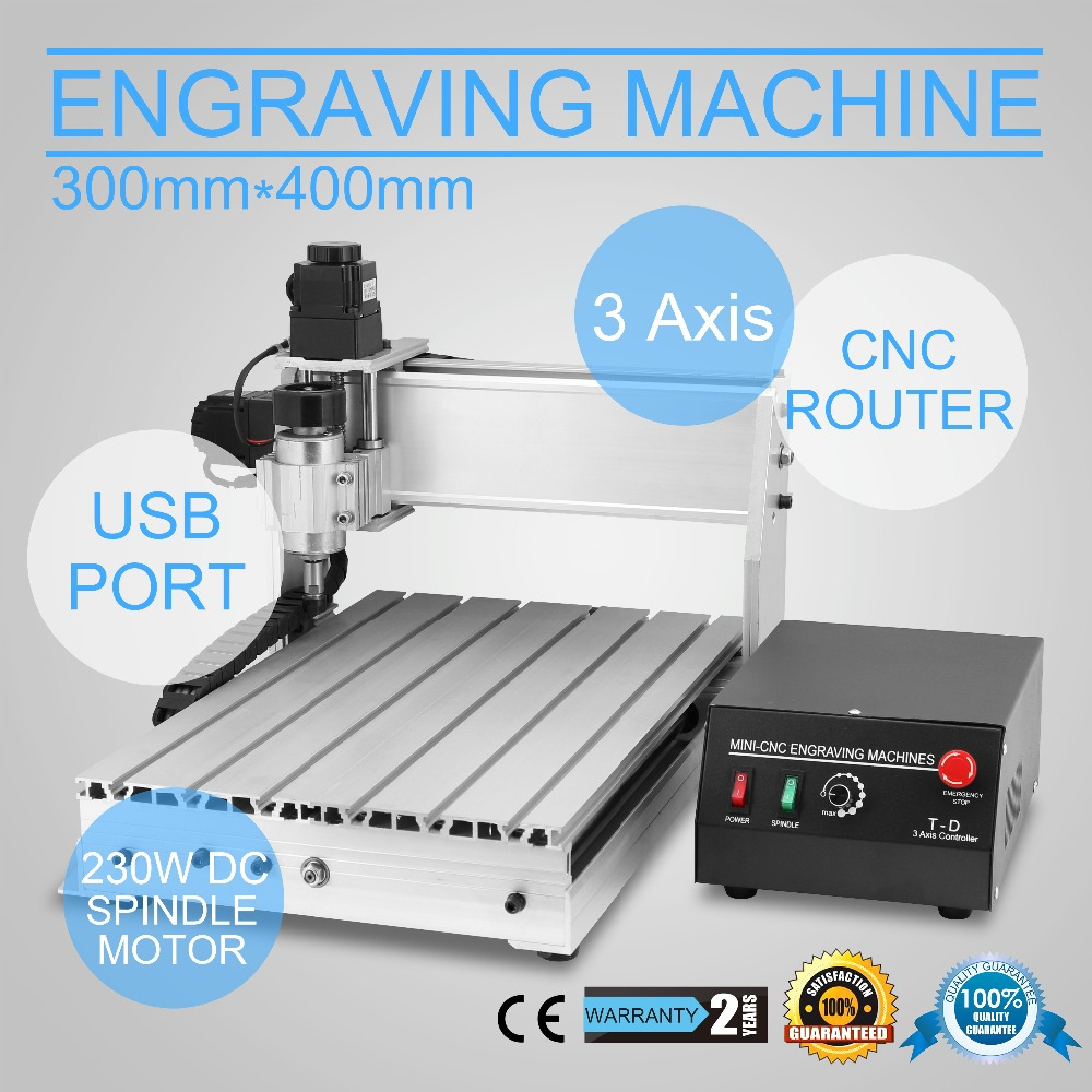 Updated New CNC 3040T Router Engraver/Engraving Drilling And Milling Machine 3Axis Carving Cutting Tool