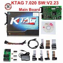 100% brak żetonów 7.020 KTAG K tag V7.020 V2.23 Online mistrz KTAG V7.020 K TAG ECU chip tuning dla samochodów ciężarowych prezenty ECM Winols