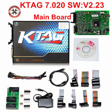 100% hiçbir belirteçleri 7.020 KTAG K etiketi V7.020 V2.23 Online ana KTAG V7.020 K TAG ECU Chip Tuning araba kamyon için hediyeler ECM Winols