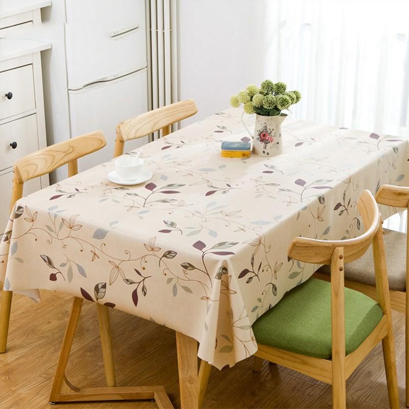 Waterproof Oilproof Table Cloth Wipe Clean PVC Vinyl