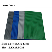 Smartable Baseplate 16X32 for Small Building Blocks parts DIY LOGO creative font b toys b font