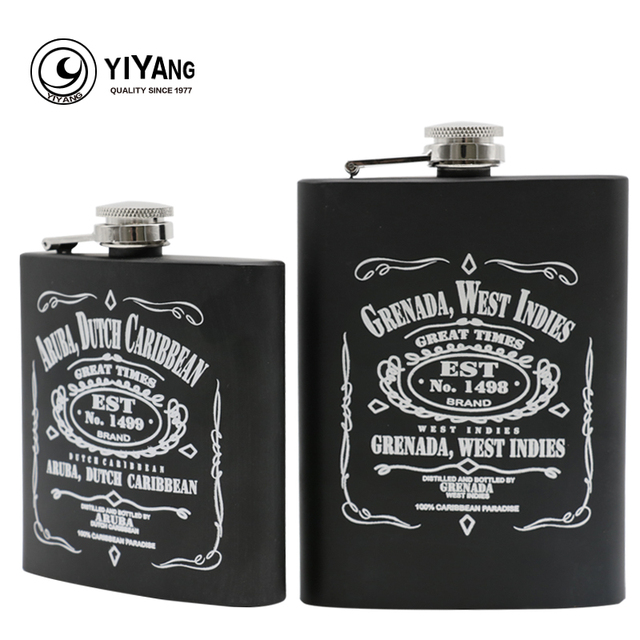 Personalisierte 6 Unze 8 Unze Flachmann Edelstahl Alkohol Whisky
