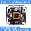 """1.3 Мегапиксельная 1280*960 AHD CCTV 960 P Модуль Камеры Плате, 1/3 """"CMOS NVP2431H + AR0130 Плата PCB PAL/NTSC Дополнительно"""
