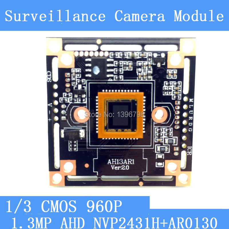 1.3MegaPixel 1280*960 AHD CCTV 960P Camera Module Circuit Board , 1/3 CMOS NVP2431H + AR0130 PCB Board PAL / NTSC Optional for yuneec typhoon h 480 drone a self locking propellers blades 3 pcs black