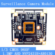 1.3MegaPixel 1280*960 AHD CCTV 960P Camera Module Circuit Board , 1/3″ CMOS NVP2431H + AR0130 PCB Board PAL / NTSC Optional