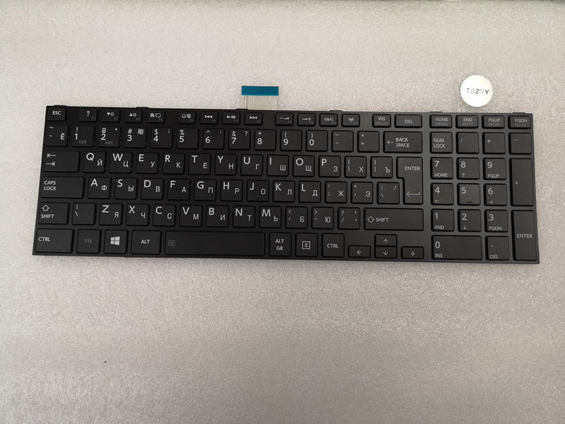 RU Keyboard for Toshiba satellite C850 C855 C870 C875 L875 L850 L855 L950 L955 image