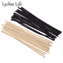 20 pcs 4mm Reed Diffuser เปลี่ยน Stick DIY Handmade Home Decor Extra หนาหวาย Reed Diffuser Refill Sticks(China)