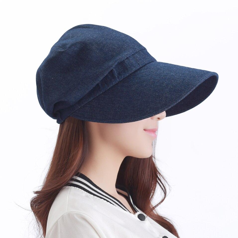 The new The latest sun hat Uv protection cap Beach hat baseball cap bonnet sport cap cowboy stetson denim jeans
