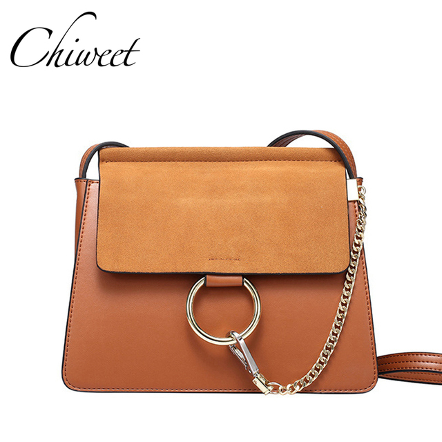 Women Ring Genuine Leather Designer Small Crossbody Bags Handbags Famous Brand Circle Las Hand