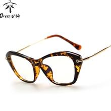 DRESSUUP New Fashion Frame Glasses Women Cat Eye Glasses Woman Classic Optical Vintage Glasses Frame Eyeglasses Oculos Gafas