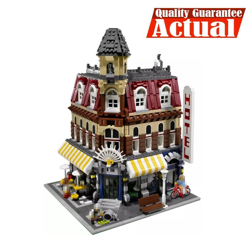 где купить LELE 30012 Cafe Corner Creator Architecture Building Blocks Bricks Toys DIY For Kids Model Compatible withINGly 10182 по лучшей цене