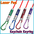 register shipping+10pcs/lot Mini 5mW 2in1 LED Laser Pen Pointer FlashLight Torch Beam Light Keychain Keyring