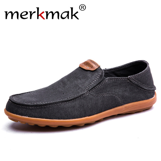 Merkmak Men Shoes Loafers Casual Boat Shoes Summer New Men Driving Shoes Breathable Male Flats Loafer Moccasins Shoes Size 37-46