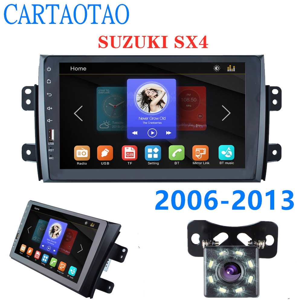 Car Radio Multimedia Video Player Mirror Link (for Android phones) For Suzuki SX4 2006 - 2013 2DIN  9 car radio Bluetooth MP5Car Radio Multimedia Video Player Mirror Link (for Android phones) For Suzuki SX4 2006 - 2013 2DIN  9 car radio Bluetooth MP5