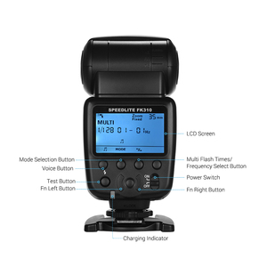 Image 4 - for Canon Nikon Sony Olympus Pentax DSLR Camera Universal Wireless Camera Flash Light Camera Speedlite GN33 LCD with Mini Stand