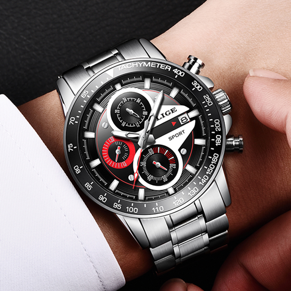 HTB1sf SMNTpK1RjSZR0q6zEwXXaJ LIGE Fashion Men Watches Male Creative Business Chronograph Quartz Clock Stainless Steel Waterproof Watch Men Relogio Masculino