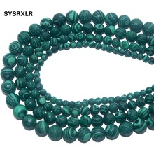 где купить Free Shipping Faceted Natural Stone Green Malachite Loose Beads For Jewelry Making DIY Bracelet Necklace 4 6 8 10 12 MM Strand по лучшей цене