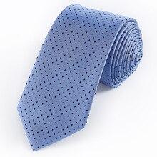 Tailor Smith Blue Necktie Men Silk Dot Skinny Tie Woven Men's Ties Cravat Fashion Accessory Formal Business Party Groom Neckties