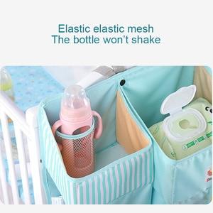 Image 5 - Bolsa de almacenamiento colgante para cuna de bebé, organizador de pañales, juegos de cama, accesorios para almacenamiento de cuna y organización de guardería