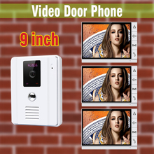 Wholesale prices 9″ Wired Video Door Phone Intercom System visual intercom doorbell waterproof night vision Camera Speakerphone For Villa